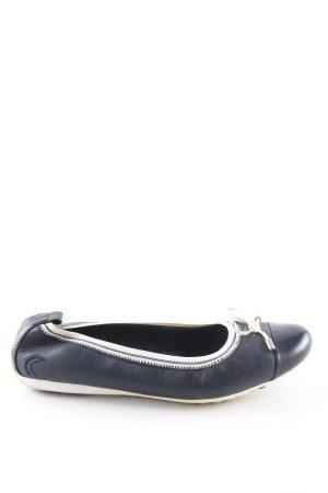 Geox Respira faltbare Ballerinas blau-weiß Casual-Look