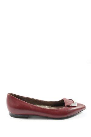 Geox Respira Klassische Ballerinas rot Business-Look