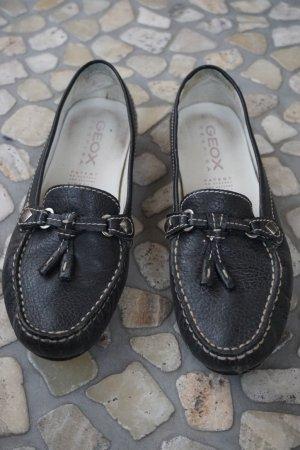 Geox Respira Mokkasins / Loafer Größe 38 schwarz