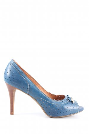 Geox Respira Peeptoe Pumps blau Casual-Look