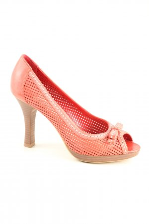 Geox Respira Peeptoe Pumps hellorange Business-Look