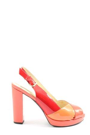 Geox Respira Sandały na grubym obcasie czerwony-jasny pomarańczowy Elegancki