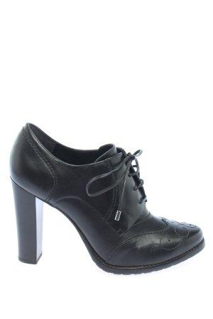Geox Respira Sznurowane botki czarny W stylu casual