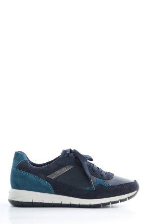 Geox Respira Schnürsneaker blau sportlicher Stil