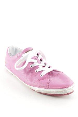 Geox Respira Schnürsneaker pink-weiß sportlicher Stil