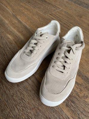 Geox Respira Sneaker Beige Veloursleder