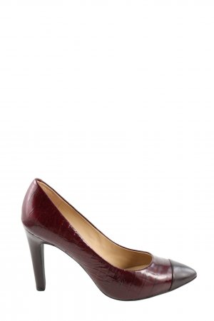 Geox Respira Spitz-Pumps rot Business-Look
