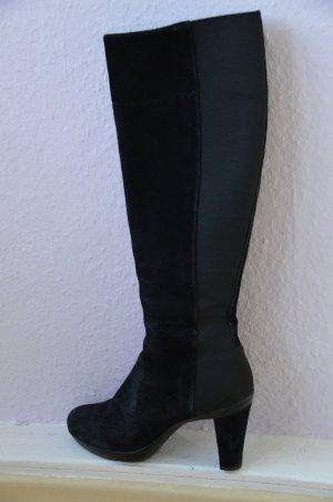 GEOX Respira Stiefel enganliegend Veloursleder Gummizug schwarz Gr. 37