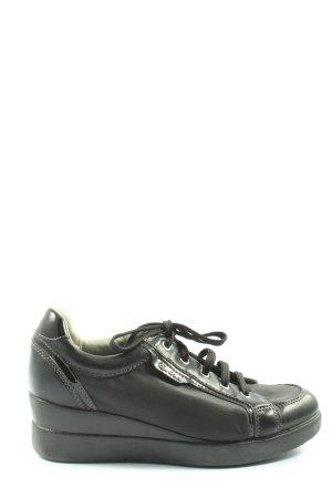 Geox Respira Sneaker con zeppa nero stile casual