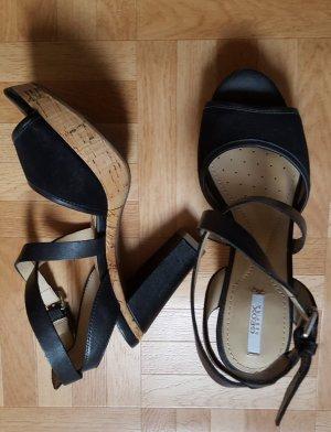 Geox Sandalias de tacón de tiras negro