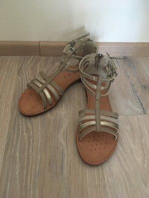 Geox Sandalen met bandjes taupe-grijs-bruin Leer