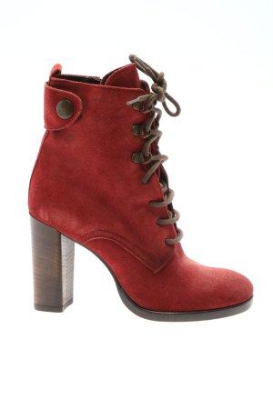 Geox Stivaletto stringato rosso stile casual