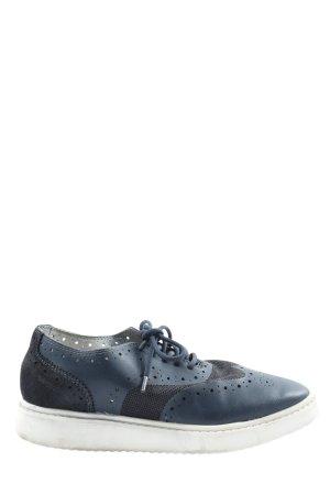 Geox Schnürschuhe blau-schwarz Casual-Look