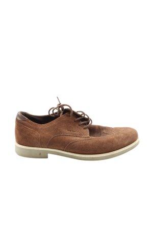 Geox Sznurowane buty brązowy W stylu casual
