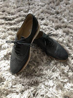 Geox Schuhe slipper blau schwarz 37 budapester Mode Fashion Blogger