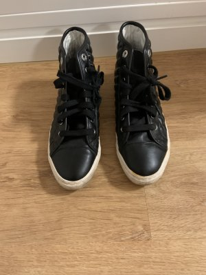 Geox High Top Sneaker black-white leather