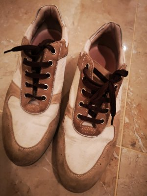Geox Wedge Sneaker white-oatmeal leather