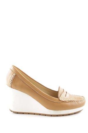 Geox Wedges Sandaletten weiß-beige Casual-Look