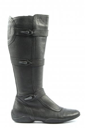 Geox Wide Calf Boots black casual look