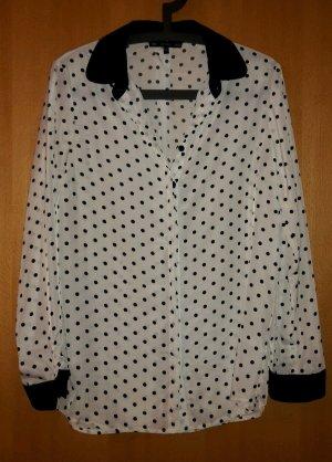 Nobrand Long Sleeve Blouse white-black