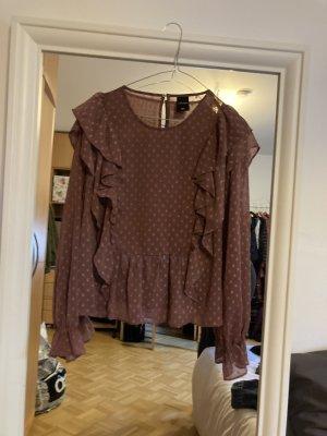 Gepunktete Bluse in Altrosa