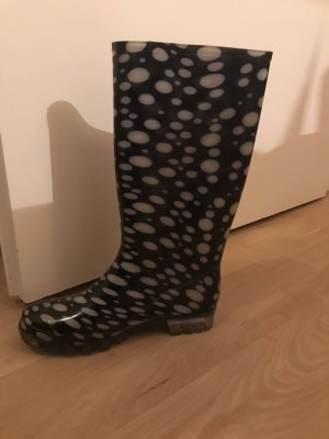 Wellies white-dark blue