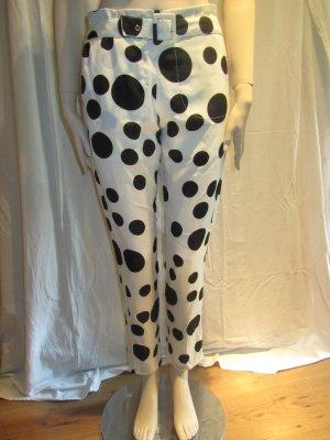 Romwe Pantalone alla cavallerizza bianco-nero