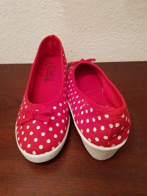 Laura Torelli Zapatos de cuña blanco-rojo