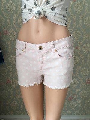 Tally Weijl Hot pants rosa chiaro-bianco