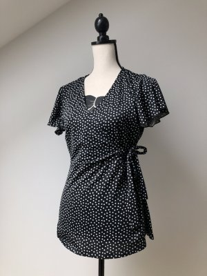 Wraparound Blouse black-white