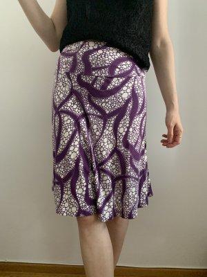 H&M Spódnica ze stretchu biały-fiolet