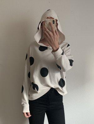 Only Capuchon sweater zwart-wit