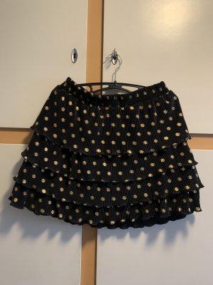 SassyClassy Spódnica z falbanami czarny-złoto