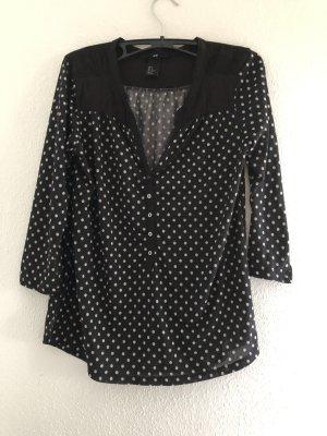 H&M T-shirt imprimé noir-blanc
