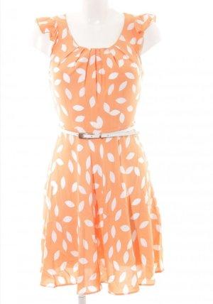 Apricot Cocktail Dress light orange