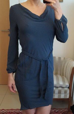 Bruuns bazaar Robe à manches longues blanc-bleu foncé