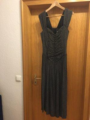 Nicowa Sukienka z gorsetem czarny-biały Wiskoza