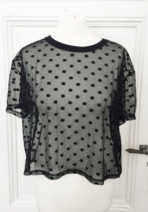 H&M Divided Top maillé noir