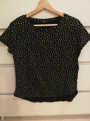 Boothalsshirt zwart-beige