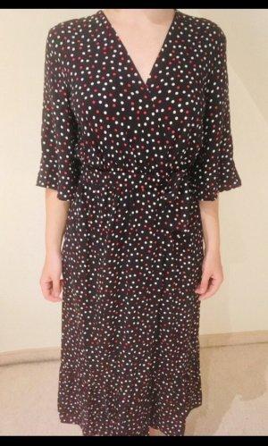 Gepunktetes Wickelkleid von Zara