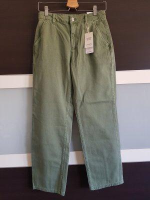 Mango Hoge taille jeans lichtgroen-khaki