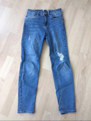 Gerade geschnittene Denim Jeans, Pull&Bear , Größe XS