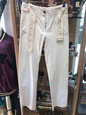 Burberry Spodnie materiałowe kremowy