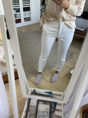 Zara Low-Rise Trousers white-cream