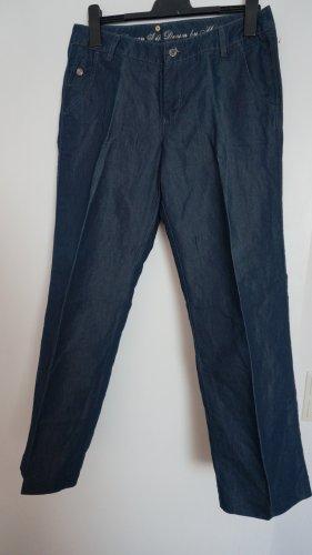 Gerade geschnittene Hose mit Seidenateil Gr.38-40