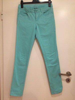 Pantalone boyfriend turchese-azzurro
