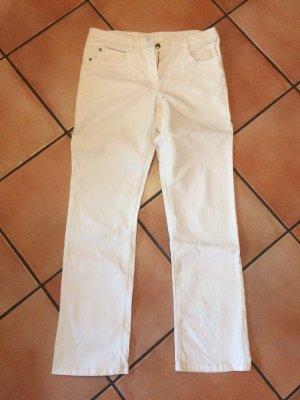 Giada Pantalone boyfriend bianco Cotone
