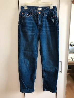 River Island Jeans coupe-droite bleu foncé