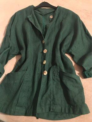 0039 Italy Długa kurtka ciemnozielony