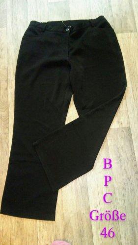 Bon Prix Spodnie materiałowe czarny Tkanina z mieszanych włókien